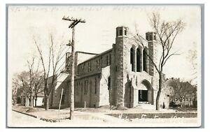 RPPC St Parks Cathedral in HASTINGS NE Nebraska 1928 Real Photo Postcard