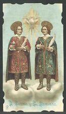 Holy card antique de San Cosme y San Damian santino andachtsbild image pieuse