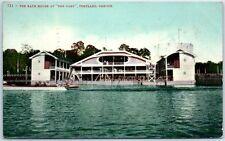 "Portland, Oregon Postcard ""Bath House at THE OAKS"" Swimming Bathing Scene 1909"