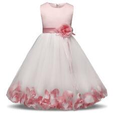 Flower Girl Baby Princess Girls Birthday Party Dress Wedding Tutu Kids Clothes
