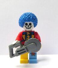 Lego Skeleton Monster Clown Minifigure & Saw Halloween Circus