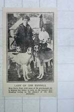 1917 Miss Daisy Fear Lady Of The Greyhound Kennels Near Reading