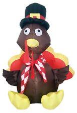 Airblown Inflatable Turkey 4 Feet Yard Decor Prop Thanksgiving Bird