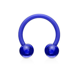 PAIR Flexible Circular Barbells Horseshoe Septum Eyebrow Nipple Tragus Ring