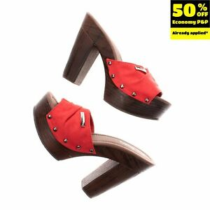 RRP€125 PIERRE CARDIN Clog Sandals EU 37 UK 4 US 7 Suede Effect Platform