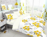 Luxury Poppy Yellow Duvet Cover Bedding Set with Pillow Cases, All Sizes