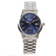 Sekonda Men's Blue Dial Stainless Steel Silver Bracelet Watch 3358