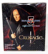Babylon 5 CCG Crusade Edition Booster Box 24 Packs 9 Cards Each Sealed New Rare