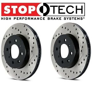 For Lotus Elise Exige Set of Front Left & Right StopTech Drilled Brake Rotors