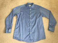 Eton Contemporary Men's Blue Long Sleeve Dress Shirt 17½ - 44