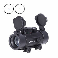 Red Green Dot Rifle Scope Sight Reflex Laser for Hunting w/ Flip-up Lens Covers