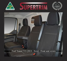 FRONT Seat Covers Bucket & Bench Fit Ford Transit Single Cab PREMIUM WATERPROOF