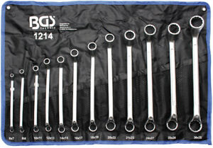 12-teiliger Ring Spanner Set Sw 6 - 32mm, Cranked, Double-End