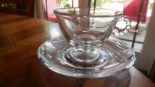 "Fostoria #2560 ""Coronet"" (8) crystal cups & saucers"
