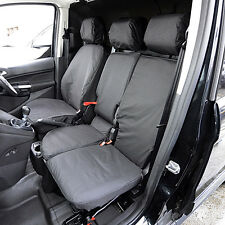 FORD TRANSIT CONNECT 2014 ON TAILORED HEAVY DUTY VAN SEAT COVERS BLACK 007