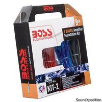 Boss 8 Gauge Amp Amplifier Install Kit Power Wiring Sub Subwoofer USA BEST PRICE