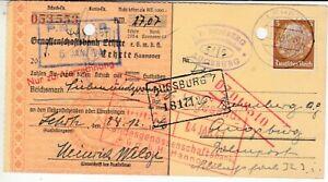 Empire Allemand Verrechnungsscheck Genossenschaftsbank Lehrte 1940 ##