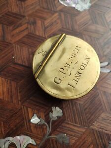 Antique late 18th/early 19th century sheet brass snuff box