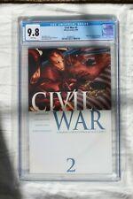 CIVIL WAR #2 CGC 9.8 1ST PRINT