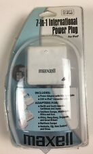 Maxell 7-in-1 International Power Plug iPod Travel NEW!