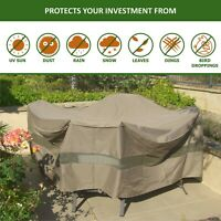 """104"""" Round Patio Table & 6 Chairs Set Waterproof Outdoor Large Furniture Cover"""