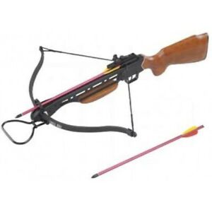 Wood Stock 150 lb Draw Hunting Crossbow Hunt Large Game Rifle Grip Archery Bows