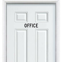 Office Entrance Sign Sticker for Door Wall Window Art Decor Vinyl Decal Sign