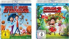 3D 6 Blu-rays * WOLKIG MIT AUSSICHT AUF FLEISCHBÄLLCHEN  1+2 IM SET # NEU OVP <