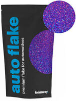 "Hemway Purple Holographic Metal Flake 0.015"" 100g Auto Car Glitter Paint Spray"