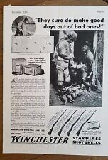 1933 Winchester repeating arms Co model 21 12 97 42 rifle shotgun gun ad