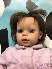 Unbranded Baby Doll Reborn Soft Torso Brown Hair Cute Face 20""
