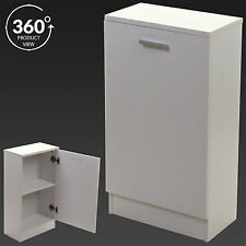 Bathroom Cabinet White Wooden Storage Unit Cupboard Home Living Room Furniture