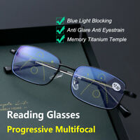 Progressive Multifocal Blue Light Blocking Presbyopia Glasses Reading Glasses