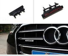 1Pcs For New Black Red Word Quattro Car Front Grill Grilles Plastic Badge Emblem