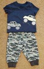 Euc Child of Mine by Carter's 0-3 Months Baby Boy 2 Piece Set Navy Blue and Camo