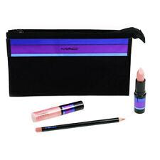MAC Makeup Gift Set With Lipstick Lip Gloss Lipliner + Bag - Damaged Box