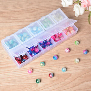 8MM Crystal Beads Ice Cracked Loose Bead For Making Jewelry Diy Home Decor