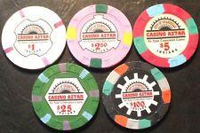 New Listing(1) Casino Aztar Casino Chip Sample Set - Evansville, Indiana - 1995 - 5 Chips