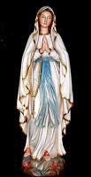 Lourdes Madonna Marienfigur Holz 1,20 Meter, Big Holy Mary Wood 48`
