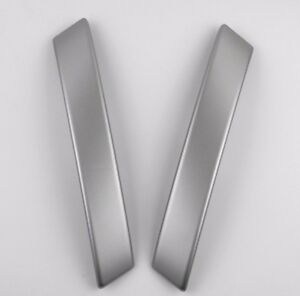 Pair Front Door Interior Handle Trim Silver Cover for Nissan QASHQAI 07-14