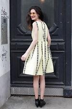 Damen Kleid dress gelb yellow schwarz black 50er True VINTAGE 50´s petticoat