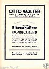 Dachsteinfabrik Walter Nieder Hartmannsdorf XL Reklame 1923 Dachziegel Witoszyn