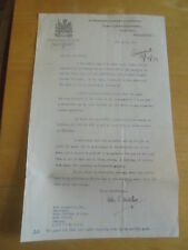1939 SIR MILES EWART MITCHELL  CLERKS DEPT TOWN HALL  MANCHESTER SIGNED LETTER