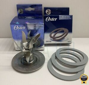 Genuine Oster 6 Point Fusion Blade 4980 with 3 Sealing Gasket Rings Brand New