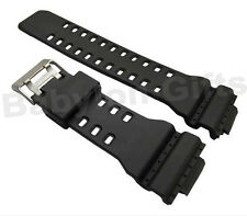 Black Rubber Replacement Watch Strap for Casio G Shock GA100 GA200 Twin Buckle