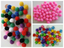 50 pompons 15mm peluches polyester MIX ou COULEURS AU CHOIX loisirs créatifs