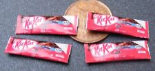1:12 Scale 4 Paper Kit Kat Bar Packets Dolls House Miniature Sweet Accessories