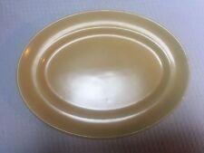 "Vintage Homer Laughlin Wells Art Glazes Yellow 13-1/2"" Platter"