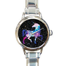 Mythical Unicorn Rainbow Star Cloud Magical Italian Charm Watch Link Bracelet