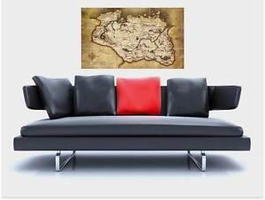 """SKYRIM - MAP OF THE ELDER SCROLLS V BORDERLESS MOSAIC TILE WALL POSTER 35""""x25"""""""